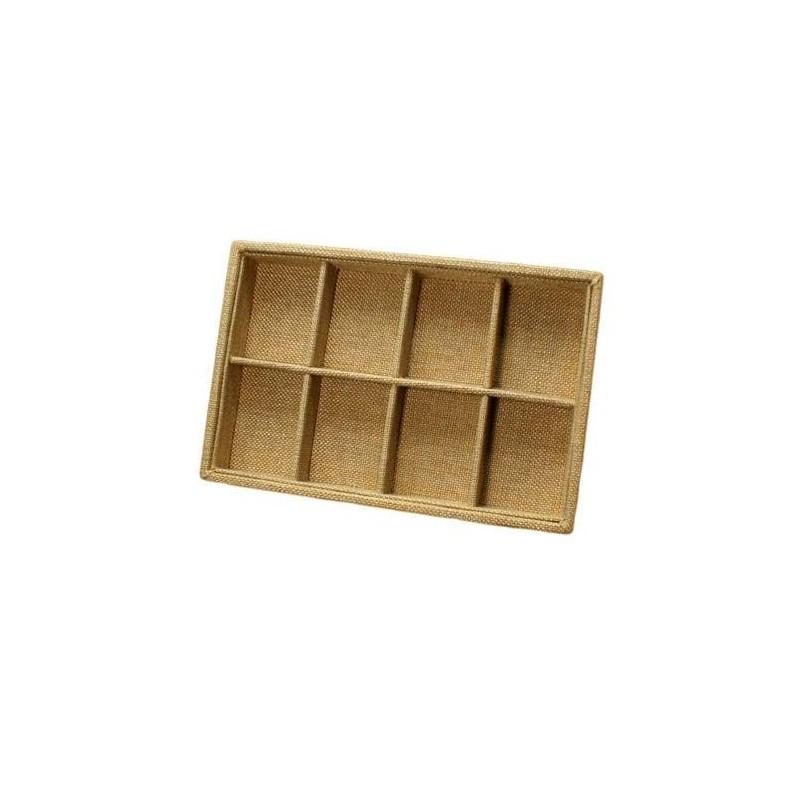 pr sentoir bijoux cases en toile de jute marron clair. Black Bedroom Furniture Sets. Home Design Ideas
