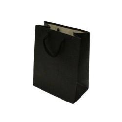 12 sacs cadeaux de couleur noir 14x8x18cm - 5588