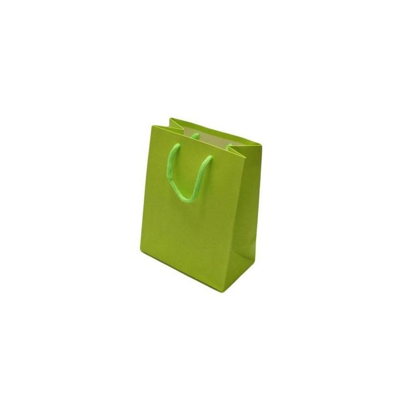 12 sacs cadeaux couleur vert anis pochette cadeaux verte - La couleur vert anis ...