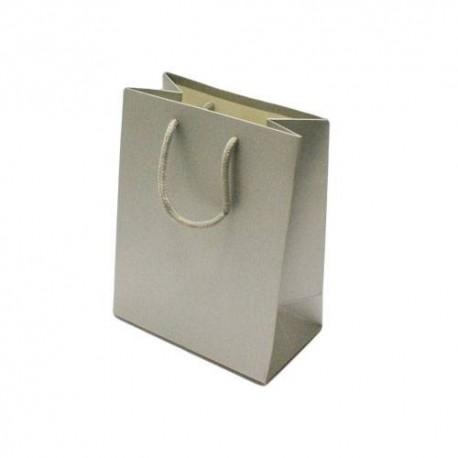 12 sacs cadeaux de couleur argenté 14x8x18cm - 6525