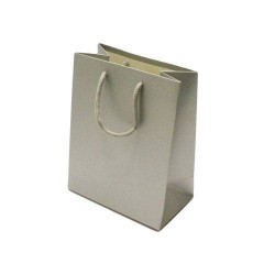 Lot de 12 sacs cadeaux couleur argenté 18x10x23cm - 6528