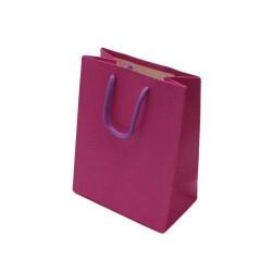 Lot de 12 sacs cadeaux couleur rose magenta 18x10x23cm - 6531