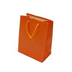 Lot de 12 sacs cadeaux couleur orange vif 18x10x23cm - 5607