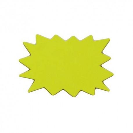 20 étiquettes éclatées prix jaune fluo 14x10.5cm - 5714