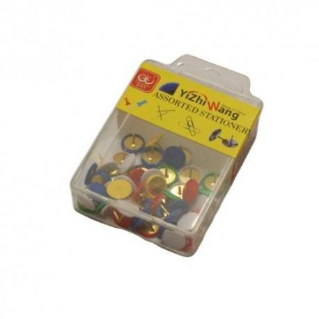 Boîte de 50 punaises colorées - 5718