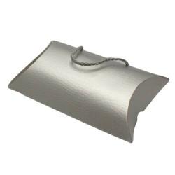 Lot de 12 sacs berlingot de couleur argenté - 5706