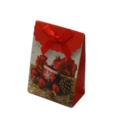 12 boîtes cadeaux pour bijoux de couleur rouge et blanc 10.5x7.5x4cm - 5744