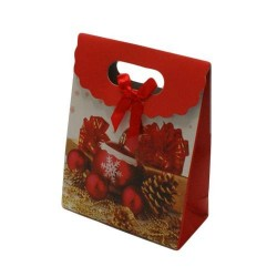 12 boîtes cadeaux de couleur rouge et blanc à motifs 16x12.5x6cm - 5745