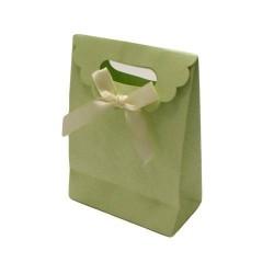 12 boîtes cadeaux en papier kraft de couleur vert tendre - 5752