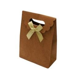 12 boîtes cadeaux en papier kraft de couleur marron - 5762