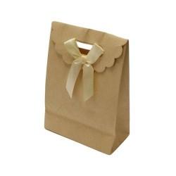 12 boîtes cadeaux kraft de couleur beige clair 25x17x9cm - 5764