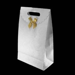 Lot de 12 boîtes cadeaux en papier kraft blanc 30x19x9.5cm - 5772