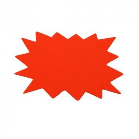 20 étiquettes éclatées orange fluo 10.5x8cm - 5839