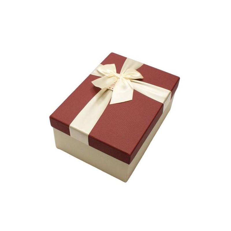 Connu Boîte cadeaux écru, grand coffret cadeaux avec noeud, boîte déco. MM27