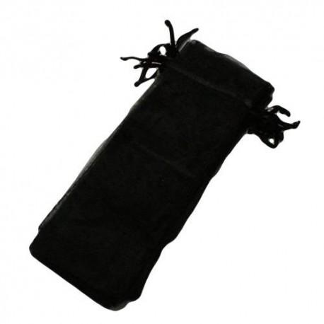 100 bourses organza longues de couleur noir - 5847