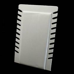 Présentoir pour chaînes repliable en simili cuir blanc - 5899