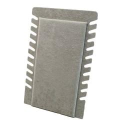 Présentoir pour chaînes repliable en velours gris - 5902