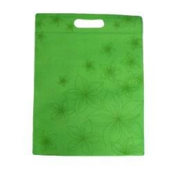 20 sacs non-tissés couleur vert et imprimé - 5921