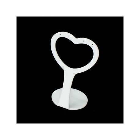 Pr sentoir boucles d 39 oreilles blanc 3423b - Presentoir a boucles d oreilles ...