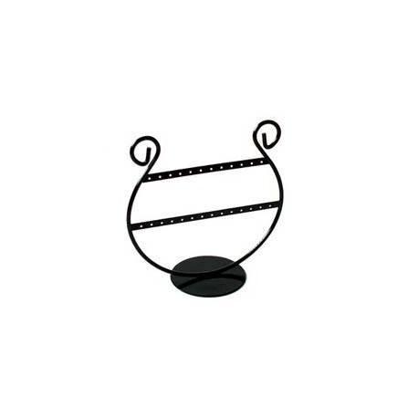 Porte bijoux pour boucles d'oreilles en métal noir 13 paires - 5972