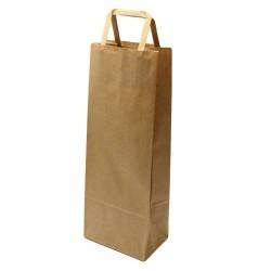 25 sacs pour bouteille en papier kraft brun naturel - 5980