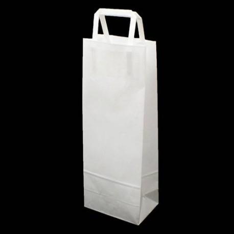 25 sacs pour bouteille en papier kraft blanc uni - 5981
