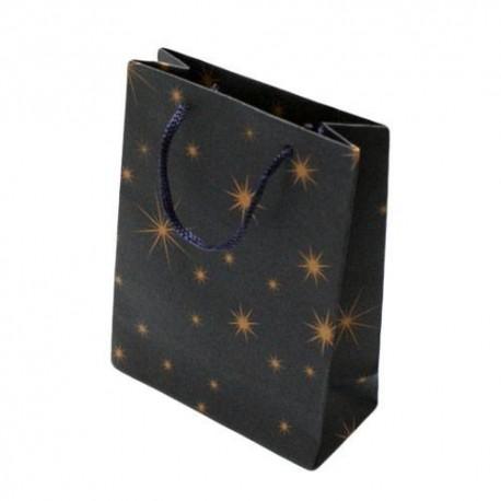 12 sacs cabas kraft toiles bleu sac cadeaux papier kraft. Black Bedroom Furniture Sets. Home Design Ideas