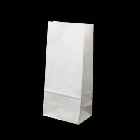 25 sacs SOS kraft blanc 14x8x24cm - 5997