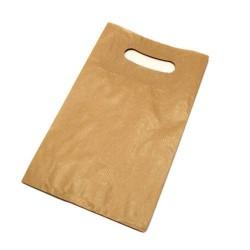 25 sacs en papier kraft brun à poignées 18x6x29cm - 6000