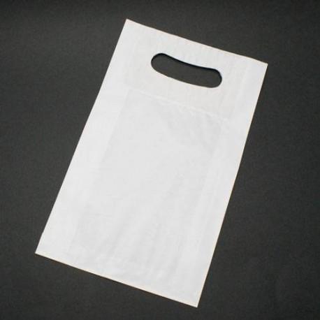 250 sacs en papier kraft blanc à poignées 18x6x29cm - 6001