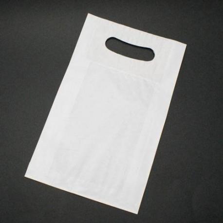 250 poches kraft blanc à poignées 24x10x40cm - 6003