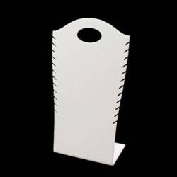Présentoir de couleur blanc pour colliers - 6058