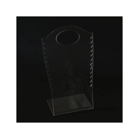 Présentoir de couleur transparent pour colliers - 4003