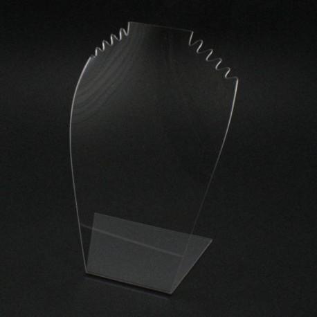 Buste bijoux pour colliers en acrylique transparent grande taille - 6060