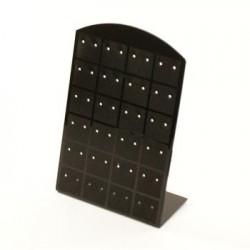 5 présentoirs boucles d oreilles noirs - 1160