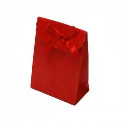 12 boîtes cadeaux pour bijoux de couleur rouge 10.5x7.5x4cm - 6063