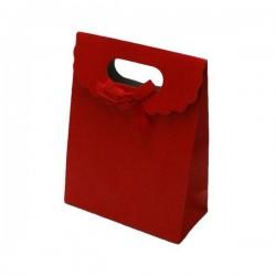 12 boîtes cadeaux de couleur rouge uni 16x12.5x6cm - 6064