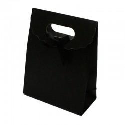 12 boîtes cadeaux de couleur noir uni 16x12.5x6cm - 6067