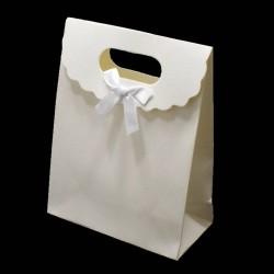 12 boîtes cadeaux de couleur blanc uni 16x12.5x6cm - 6069
