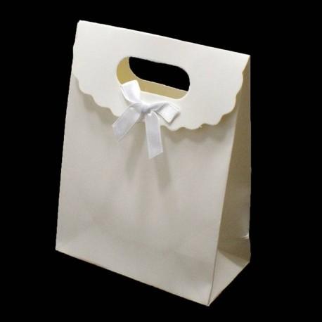 Lot de 12 boîtes cadeaux couleur blanc 31.5x24x12cm - 6071