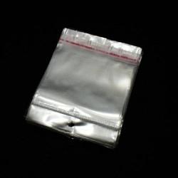 10 sachets autocollants en papier cristal 9x6cm - 6084