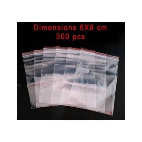 500 sachets réutilisables zip 8x6cm - 2644