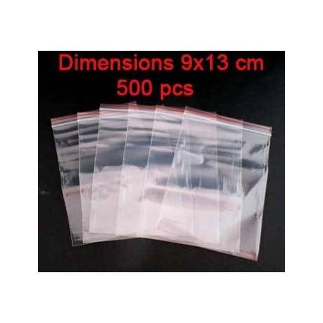 500 sachets fermeture à zip réutilisables 10x7cm - 0287