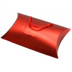 12 Sacs berlingot rouges avec anses lacet - 6041