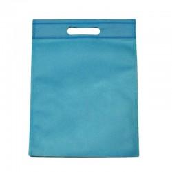 12 sacs non-tissés couleur bleu ciel uni - 6118