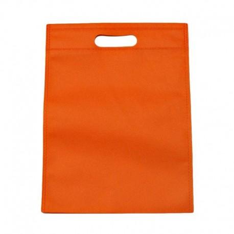 12 sacs non-tissés orange uni - 6128