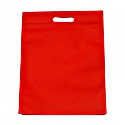 12 sacs non-tissés rouge vif uni - 6127