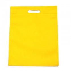 12 sacs non-tissés jaune citron uni - 6129