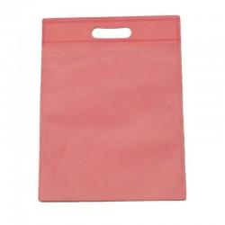 Lot de 12 sacs intissés de couleur rose clair - 6133