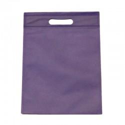 Lot de 12 sacs intissés de couleur mauve - 6135